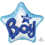 Baby Boy 3D Supershape Foil Balloon Pk 1