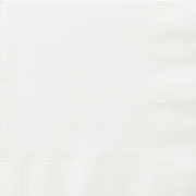 White Cocktail Napkins Pk 20
