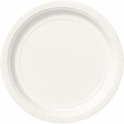 Bright White 9in. Paper Plates Pk 16