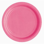 Hot Pink 9in. Paper Plates Pk 16