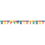 Block Party Birthday 2.2m Jointed Banner Pk 1
