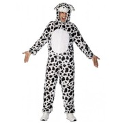 Adult Dalmatian Dog One Piece Suit Costume (Large, 42-44)