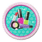 Sparkle Spa Party 9in. Paper Plates Pk 8