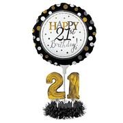 DIY 21st Birthday Balloon Centrepiece Decoration Kit Pk 1 (AIR INFLATION ONLY)
