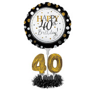 DIY 40th Birthday Balloon Centrepiece Decoration Kit Pk 1 (AIR INFLATION ONLY)