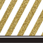 Black & Gold 3 Ply Cocktail Napkins Pk 16