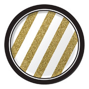 Black & Gold Paper Plates (7in/17cm) Pk 8