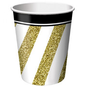 Black & Gold 9oz. Paper Cups Pk 8