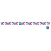 Sparkle Spa Party Shaped Ribbon Banner (15.2cm x 3m) Pk 1