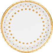 Sparkle & Shine Gold Dots 9in. Paper Plates Pk 8