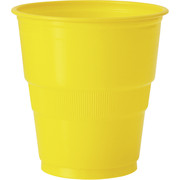 Yellow Plastic Cups (9oz-270ml) Pk 12
