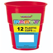 Red Plastic Cups (9oz-270ml) Pk 12