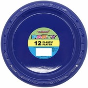 Navy Blue Plastic Plates (178mm) Pk 12