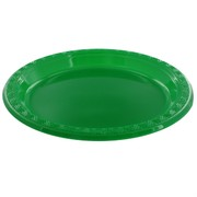 Emerald Green Plastic Plates - Small 17cm Pk12