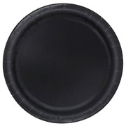 Midnight Black 9in. Paper Plates Pk 16