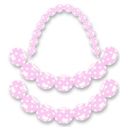 Light Pink Linking Latex Balloons with White Polka Dots Pk 16
