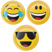 Show Your Emojions Emoji 7in. Paper Plates (Assorted Designs) Pk 8