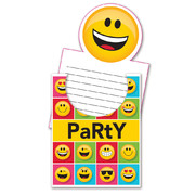 Show Your Emojions Emoji Pop Up Invitations Pk 8