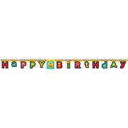 Show Your Emojions Emoji Jointed Birthday Banner (2.2m) Pk 1