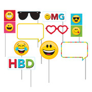 Show Your Emojions Emoji Photo Prop Decorations Pk 10