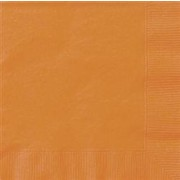 Orange Lunch Napkins Pk 20