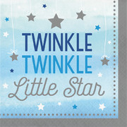 Twinkle Little Star Blue (Boy) 2 Ply Lunch Napkins Pk 16