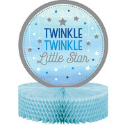 Twinkle Little Star Blue (Boy) Honeycomb Centrepiece Decoration Pk 1