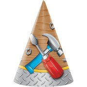 Handyman Tools Party Hats Pk 8