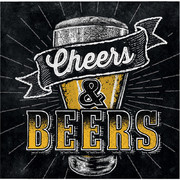 Cheers & Beers 2 Ply Cocktail Napkins Pk 16