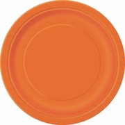 Pumpkin Orange 9in. Paper Plates Pk 16