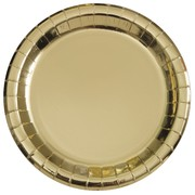 Gold Foil 7in. Paper Plates Pk 8