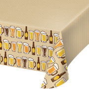 Cheers & Beers Plastic Tablecover (137cm x 259cm) Pk 1