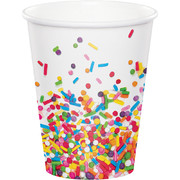 Sprinkles Design 9oz Paper Cups Pk 8