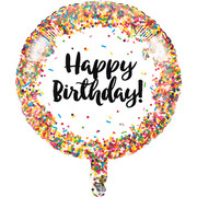 Sprinkles Design Happy Birthday 18in. Foil Balloon Pk 1