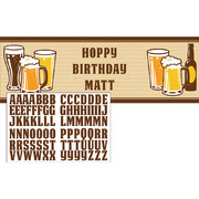 Cheers & Beers Customisable Giant Banner (50.8cm x 152cm) Pk 1