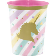 Unicorn Sparkle Plastic Favour Cup (16oz.) Pk 1