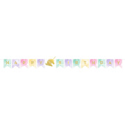Unicorn Sparkle Happy Birthday Pennant Flag Banner (1.67m) Pk 1