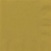 Gold Cocktail Napkins Pk 20
