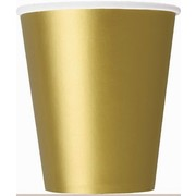 Gold 9oz. Paper Cups Pk 14