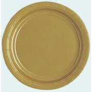 Metallic Gold 9in. Paper Plates Pk 16