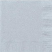 Silver Cocktail Napkins Pk 20