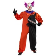 Halloween Adult Bo Bo the Scary Clown Costume (XL, 46-48)