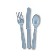Silver Cutlery Set Pk 24 (8 Forks, 8 Knives & 8 Spoons)