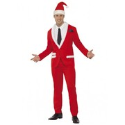 Adult Christmas Cool Santa Suit Costume (Large, 42-44) Pk 1