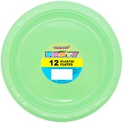 Apple Green Plastic Plates (178mm) Pk 12