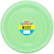Apple Green Plastic Plates 23cm Pk 8