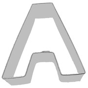Alphabet Cookie Cutter - Letter A (3in.) Pk 1