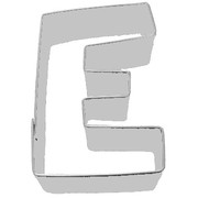Alphabet Cookie Cutter - Letter E (3in.) Pk 1