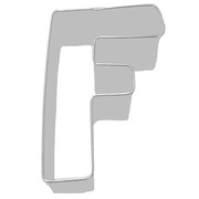 Alphabet Cookie Cutter - Letter F (3in.) Pk 1