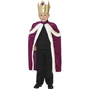 Child Kiddy King Costume - Large 10-12 Yrs